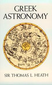 Greek astronomy by Heath, Thomas Little Sir