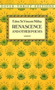 Renascence, and other poems by Edna St Vincent Millay, Edna St. Vincent Millay