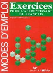 Grammaire utile du français, exercices pour lapprentissage du français (Cahier dactivités)