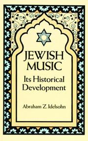 Jewish music by A. Z. Idelsohn