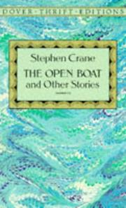 Cover of: The open boat and other stories by Crane, Stephen