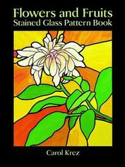 Flowers and fruits stained glass pattern book PDF