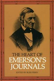 Journals by Ralph Waldo Emerson