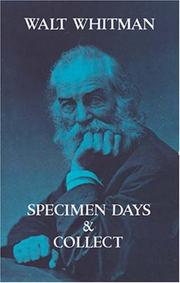 Specimen days by Walt Whitman