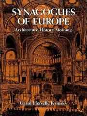 Synagogues of Europe by Carol Herselle Krinsky