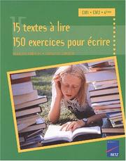Cover of: 15 textes  lire, 150 exercices pour crire  by Christian Lamblin, Franois Fontaine