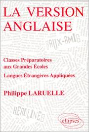 La version anglaise by Philippe Laruelle