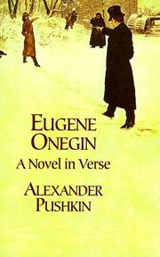 Evgeni Onegin by Aleksandr Sergeyevich Pushkin