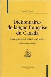 Dictionnaires de langue française du Canada