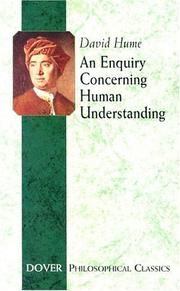Philosophical essays concerning human understanding by David Hume