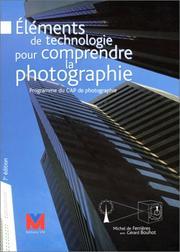 Eléments de technologie pour comprendre la photographie