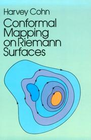 Conformal mapping on Riemann surfaces by Harvey Cohn