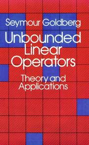 Unbounded linear operators by Goldberg, Seymour