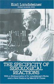 The specificity of serological reactions by Karl Landsteiner