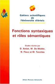 Fonctions syntaxiques et rôles sémantiques