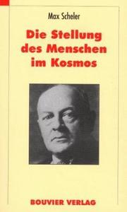 Cover of: Die Stellung des Menschen im Kosmos by Max Scheler
