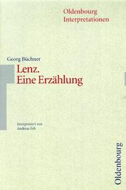 Cover of: Oldenbourg Interpretationen, Bd.87, Lenz by Georg Büchner