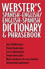 Webster's Spanish English English Spanish Dictionary and Phrase Book PDF