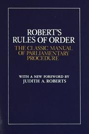 Pocket manual of rules of order by Henry M. Robert