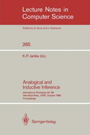 Analogical and Inductive Inference by Klaus P. Jantke
