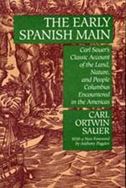 The early Spanish Main by Sauer, Carl Ortwin