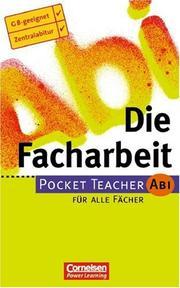 Pocket Teacher Abi, Die Facharbeit PDF