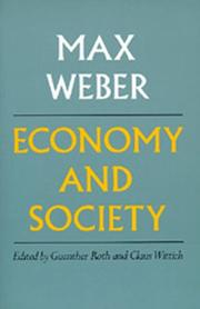 Cover of: Economy and society by Max Weber