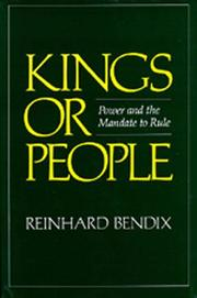 Kings or People by Reinhard Bendix