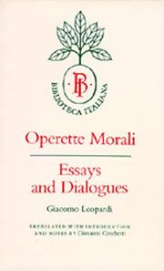 Operette morali by Giacomo Leopardi