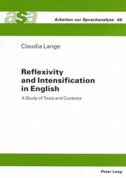 Reflexivity and Intensification in English by Claudia Lange