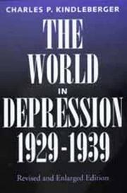 The world in depression, 1929-1939 PDF