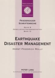 Earthquake disaster management by Horst Friedrich Rolly