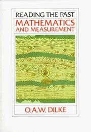 Mathematics and measurement by Oswald Ashton Wentworth Dilke