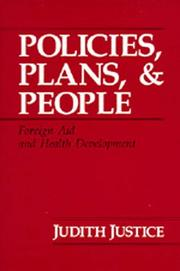 Policies, plans & people by Judith Justice