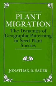 Plant Migration by Jonathan D. Sauer