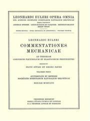 Commentationes mechanicae. Principia mechanica