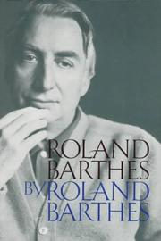 Roland Barthes by Roland Barthes