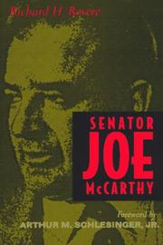 Senator Joe McCarthy by Richard Halworth Rovere
