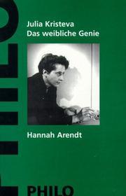 Das weibliche Genie, Bd.1, Hannah Arendt