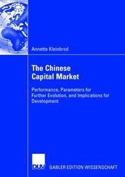 The Chinese Capital Market PDF