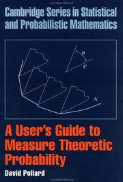 A User's Guide to Measure Theoretic Probability (Cambridge Series in Statistical and Probabilistic Mathematics) PDF