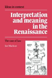 Interpretation and Meaning in the Renaissance PDF