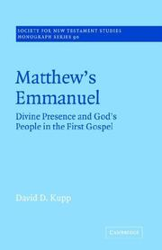 Matthew's Emmanuel by David D. Kupp