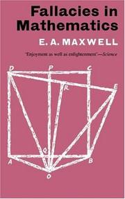 Fallacies in mathematics by E. A. Maxwell