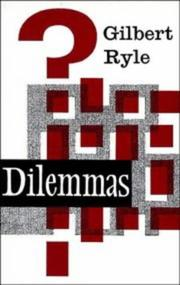 Dilemmas by Gilbert Ryle