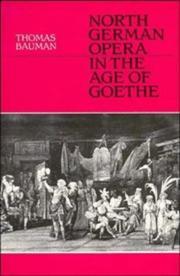 North German opera in the age of Goethe PDF