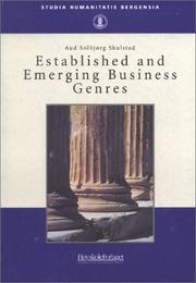 Established & Emerging Business Genres (Studia Humanitatis Bergensia, 15) PDF