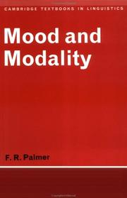 Mood and modality by F. R. Palmer