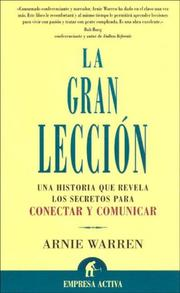 La Gran Leccion by Arnie Warren