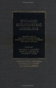 Dynamic Econometric Modeling